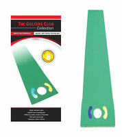 GOLF Deluxe Putting Matt by Golfers Club Improve Putts on silky putting green