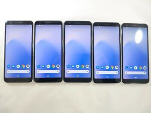 LOT of 5 Google Pixel 3a G020G 64GB GSM Unlocked Android Smartphone White A108L