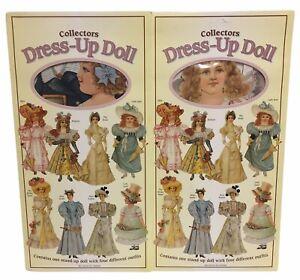 "2 x Mamelok Press Collector's Dress Up 12"" Paper Doll - Lady Anne - Lady Jane"