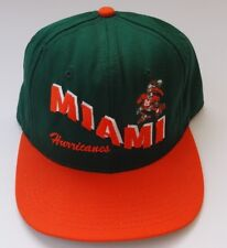 Vintage Miami Hurricanes Snapback Hat Cap 80s NCAA Football USA Made Retro