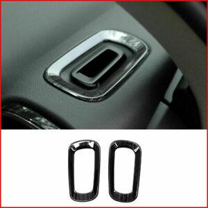 For Volvo XC40 2018-2020 Black titanium dashboard L&R air outlet vent trim 2pcs