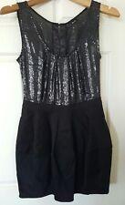BARDOT LBD Black Sequins Evening Wedding Formal Dress Size 10