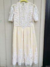 Collette Dinnigan Cream Lace Dress Size Medium