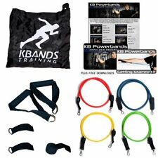 KB Powerbands Fitness Trainer w/ 4 Resistance Bands & 2 Wrist Straps by KBands