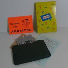 Addiator Duplex Aluminium, Echtlederetui dunkelgrün, Calculator Mint ca 1970