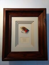 Original Stevenson Classic Salmon Fly Shadow Box Frame By Tim Trexler