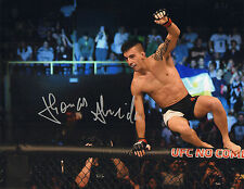 THOMAS ALMEIDA SIGNED AUTO'D 11X14 PHOTO POSTER UFC 189 186 MMA CHUTE BOXE C