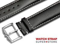 Black Fits ROTARY Watch Strap Band Genuine Leather 18 19 20 21 22mm For Buckle