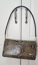 Nine West vintage Snakeskin leather Brown Bag