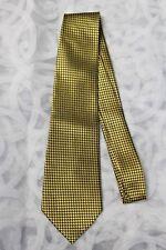 MEN - Tie 100% SILK - Gold Grey Diamond Shine