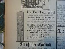 1892 ...Württemberg 1 / Reklame Stuttgart Mannheim Esslingen