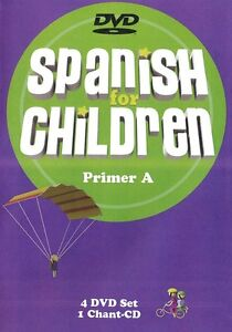 Spanish For Children Primer A 4 DVDs and Chant CD New - Classical Academic Press