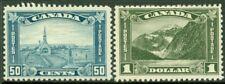EDW1949SELL : CANADA 1930-31 Scott #176-77 High values. Mint OG. Fresh. Cat $350