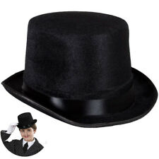 Hat Top Black Felt for Fancy Dress Party Accessory