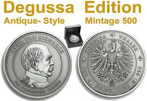 DEGUSSA Taler BISMARCK 1oz SILBER Münze Antique Satin Prägung  Auflage nur 500