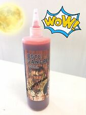 Fake Blood Bottle 450ml Vampire Zombie Halloween Red Make Up Gel Horror