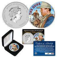 2020 1 OZ Pure Silver BU Tuvalu JOHN WAYNE The Duke Colorized Coin S/N # of 200