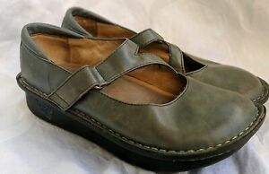 Alegria DAY-625 Shoes  Mary Janes Leather Gray Blue 35 5