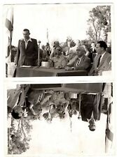Israel 1956 Ben Gurion and Dayan. Real Double photo.