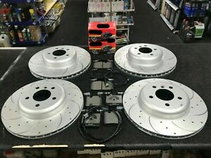 FOR BMW F30 F31 F32 F33 F34 F36 FRONT REAR DRILLED GROOVED BRAKE DISCS AND PADS