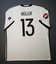 4.9/5 Germany #13 Muller 2016 2017 Football Soccer Home Jersey Shirt 2XL Adidas