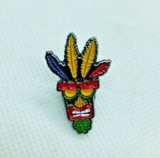 Crash Bandicoot Aku Aku Video Game Metal Enamel Pin Badge