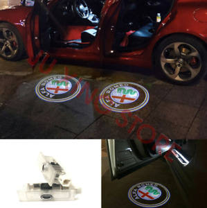 For Alfa Romeo Giulietta Stelvio Giulia Car Door Logo Projector Welcome Light HD