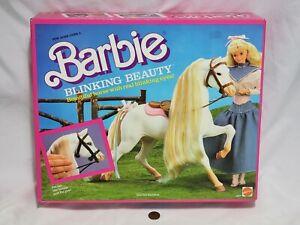 NEW Barbie BLINKING BEAUTY Horse 1987 SEALED Animal Pet Toy Figure Mattel blink