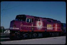 VIA RAIL F40PH-2 6403 special paint CBC KODACHROME ORIGINAL SLIDE