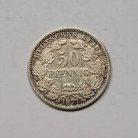 Kaiserreich 1877 H 50 Pfennig kleiner Adler (Fok4/2