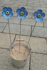 Cuffy's Metal forget-me-nots hand made in Devon  flower garden decoration Gift