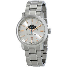 Aerowatch Renaissance Silver Dial Stainless Steel Mens Watch A 08937 AA01 M