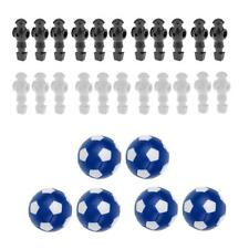 "22pcs 5/8"" Foosball Table Men Player + 6pcs 36mm Balls Foosball Replacements"
