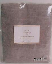 Pottery Barn Emery Linen Pole top blackout drape curtain panel, 50x84, gray