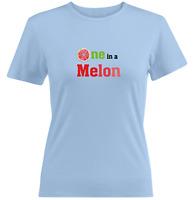 Watermelon Tee Juniors Girls Women Teen T-Shirt Gift Print Shirt One in a melon