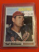 VINTAGE 1970 Topps Baseball Card Set #211 Ted Williams WASHINGTON SENATORS