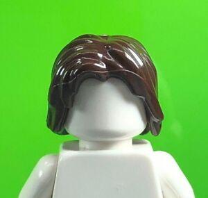 LEGO Dark Brown Minifigure Hair Mid-Length Tousled Center Part 88283 Male (x1)