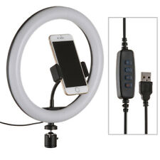 """10"""" LED Ring Light Lamp+ Phone holder for Iphone Android Streaming Makeup Selfie"""