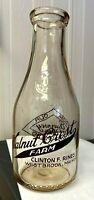 Vintage Round  Quart Milk Bottle - Walnut Crest Farm, Westbrook, Maine