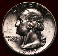 Uncirculated 1942 Philadelphia Mint Silver Washington Quarter