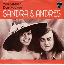 7inch SANDRA & ANDRES you believed HOLLAND EX 1973   (S1119)