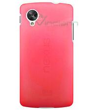 Pellicola+Custodia sottile 0,3mm ROSSO traspar per Lg Google Nexus 5 D820 cover