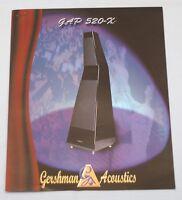 RARE_Vintage 1993_Gershman Acoustics GAP 520-X Original 2-page Sales Brochure