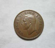 NEW ZEALAND. 1/2 PENNY, 1942. KING GEORGE VI.
