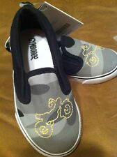 NWT~GYMBOREE~YELLOW~SHOES~GREY~BLACK~CAMO~CASUAL~8~MOTORCYCLE~