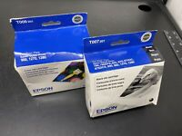 Lot of 2 Genuine Epson Ink Cartridge Black & Tri Color For Stylus Photo 900 1270