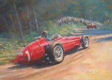 Maserati 250F Juan Manuel Fangio Motor Sport Racing Classic Car Art Print