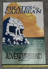 "20""x30"" Pirates of the Caribbean WDW Disney World Vintage Ride Poster - NEW, BIG"