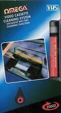 OMEGA 23022 VHS VCR Cassette Tape Video Recorder Head Cleaner System Wet & Dry