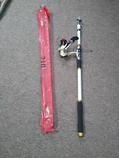 Telescopic fishing rod and reel combo